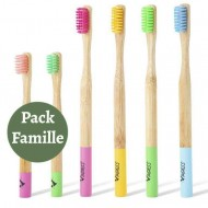 6 Pack Bamboo Toothbrush for Family